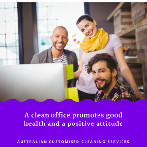 smiling people in clean office